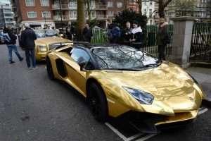 gold supercar