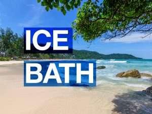 Ice bath on Phuket beach